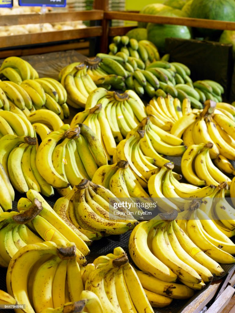 Close-Up Of Bananas For Sale : Stock Photo