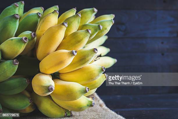 close-up of bananas - tropical fruit stock pictures, royalty-free photos & images