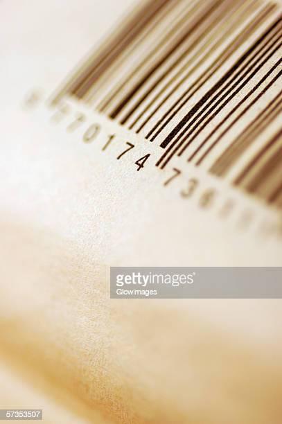 Close-up of bar codes