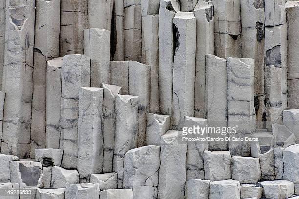 Close-up of basalt column, Iceland