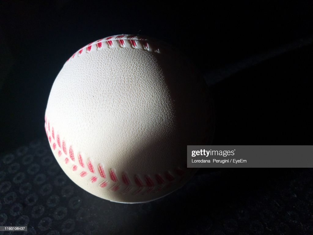 Close-Up Of Baseball On Table : Foto stock