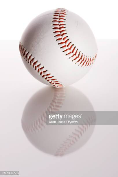Close-Up Of Baseball On Table