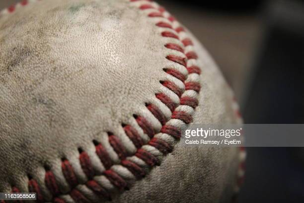 close-up of baseball - beisebol - fotografias e filmes do acervo