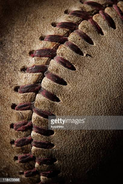 Close-up of Baseball with spotlight