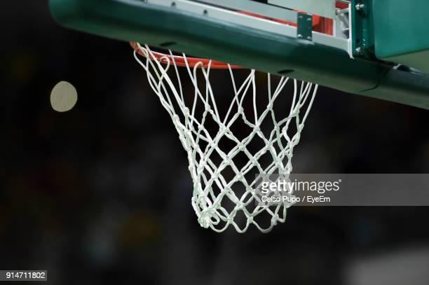 close-up of basketball hoop - basketball hoop stock pictures, royalty-free photos & images