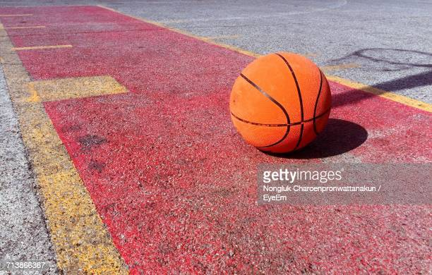 Close-Up Of Basketball On Court