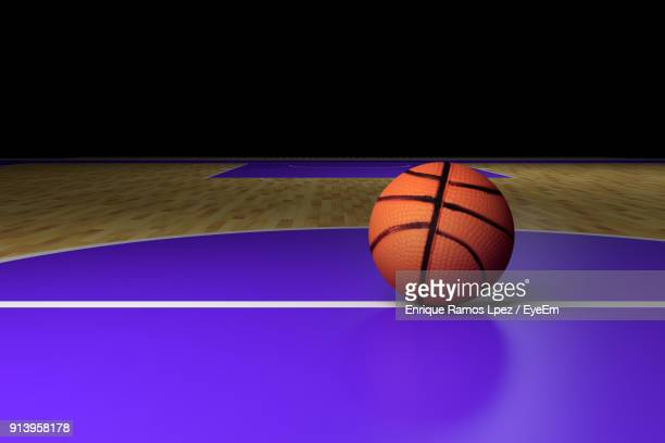 Close-Up Of Basketball On Table