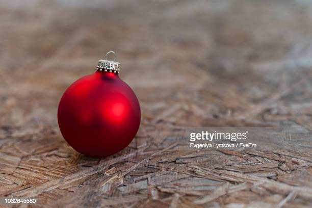 Close-Up Of Bauble On Table