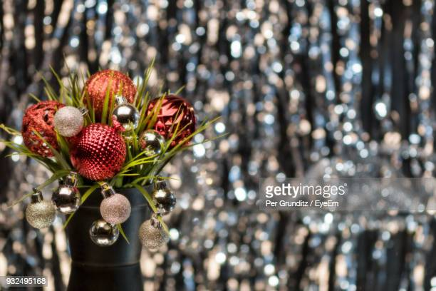 close-up of baubles on plant - per grunditz stock pictures, royalty-free photos & images