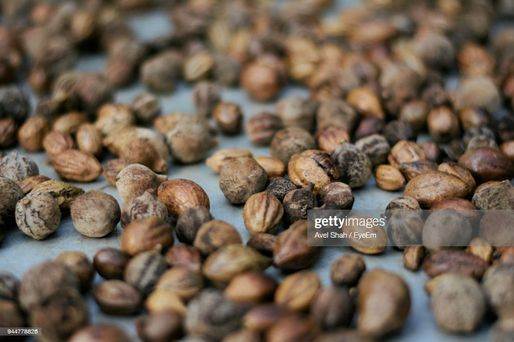 Close-Up Of Beans On Table : Stock Photo