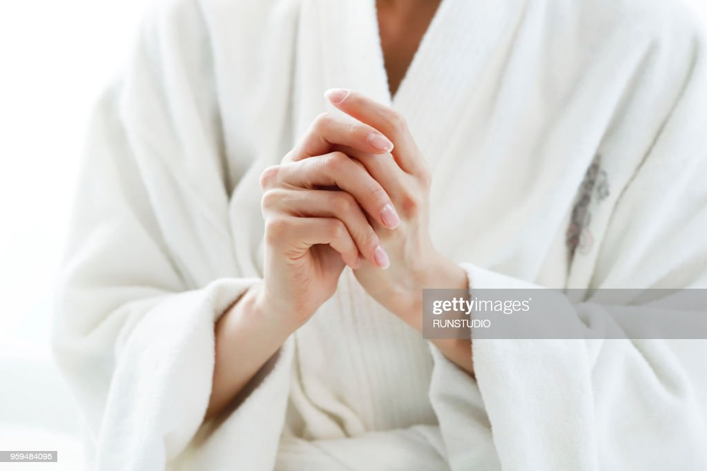 Close-up of beautiful hands of woman : Stock Photo