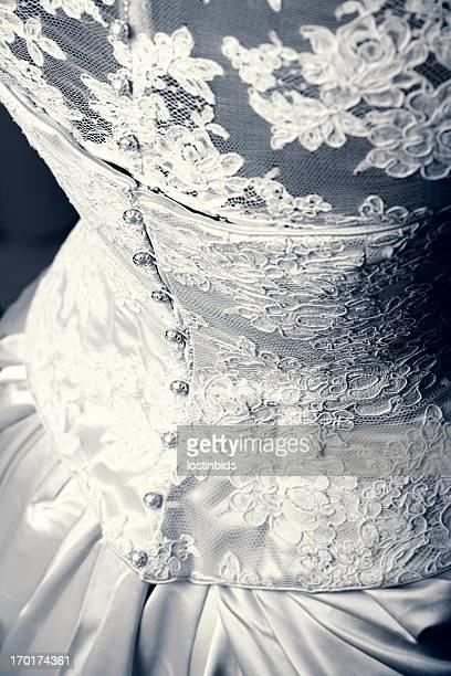 Close-up Of Beautiful Wedding Dress