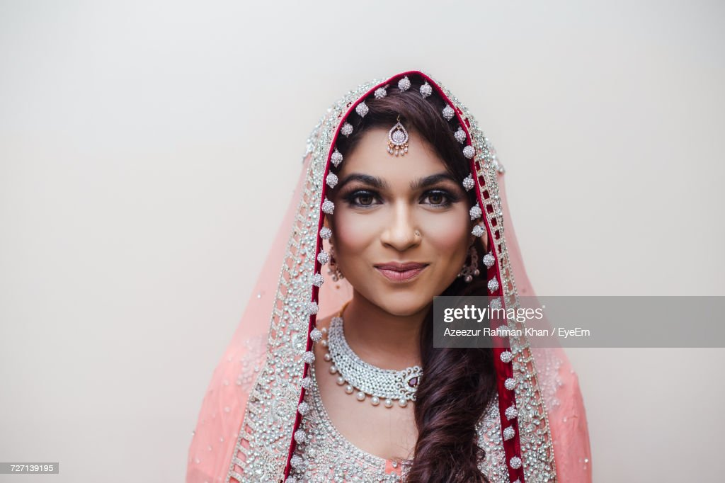 Close-Up Of Beautiful Young Indian Bride : Stock Photo