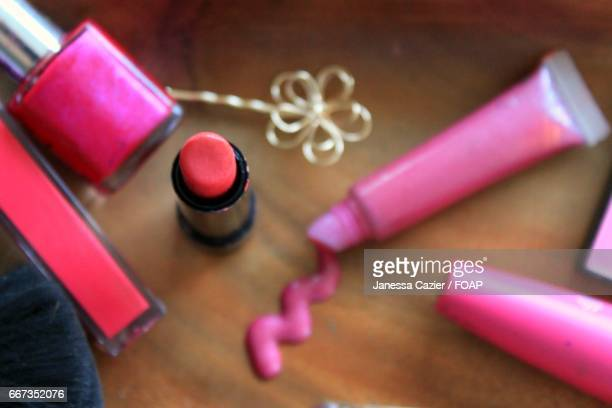 close-up of beauty products - janessa stock pictures, royalty-free photos & images