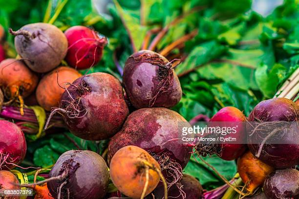 Close-Up Of Beets For Sale