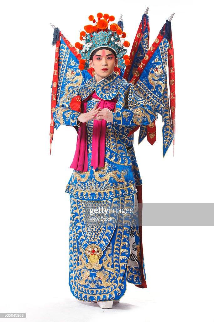 Close-up of Beijing opera actor : Stock Photo