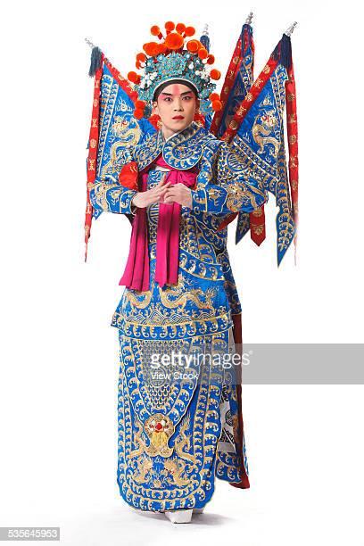 close-up of beijing opera actor - beijing opera stock photos and pictures