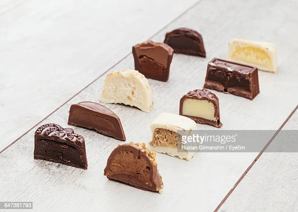 Close-Up Of Belgian Chocolate Candies