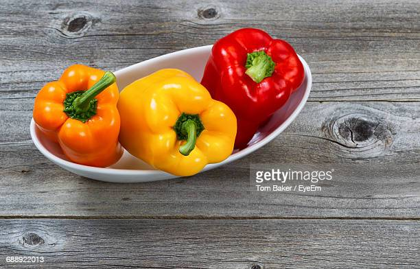close-up of bell peppers - bell pepper stock pictures, royalty-free photos & images