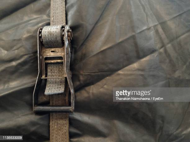 close-up of belt and canvas on truck - strap stock pictures, royalty-free photos & images