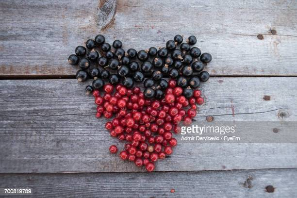 Close-Up Of Berries Arranged In Heart Shape