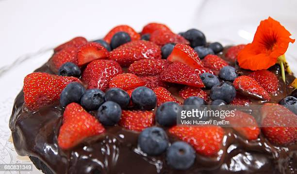 Close-Up Of Berries On Dessert