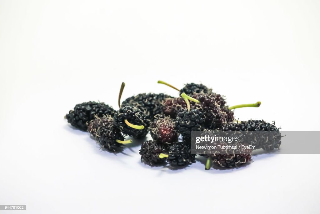 Close-Up Of Berry Fruits Over White Background : Stock Photo