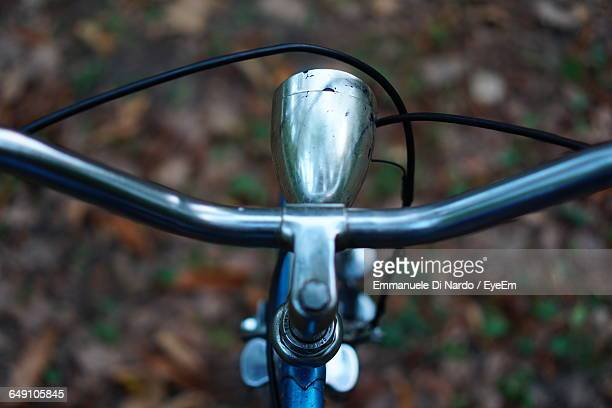 Close-Up Of Bicycle Handle