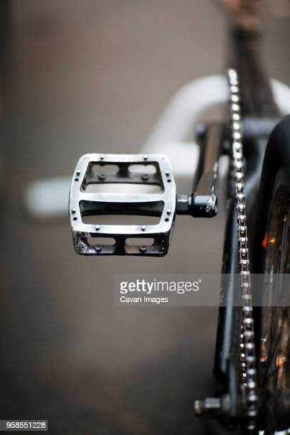 close-up of bicycle pedal - pedal stock pictures, royalty-free photos & images