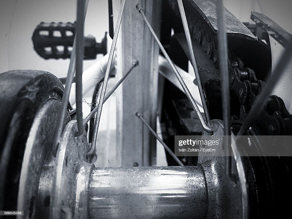 Close-Up Of Bicycle : Stock Photo