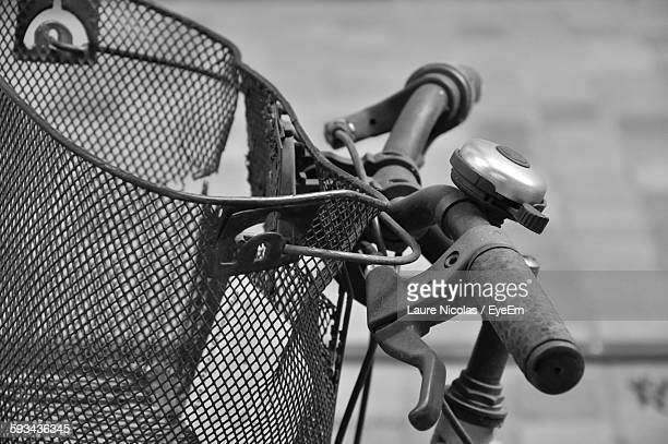 Close-Up Of Bicycle With Basket