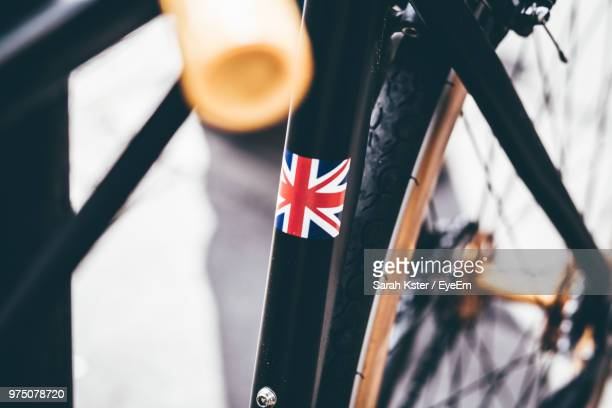 Close-Up Of Bicycle With British Flag