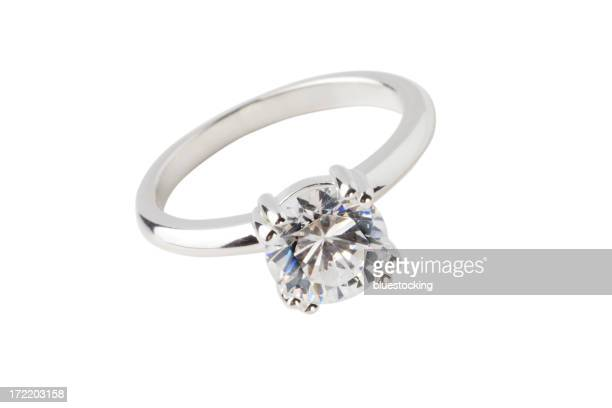 Close-up of big diamond solitaire ring