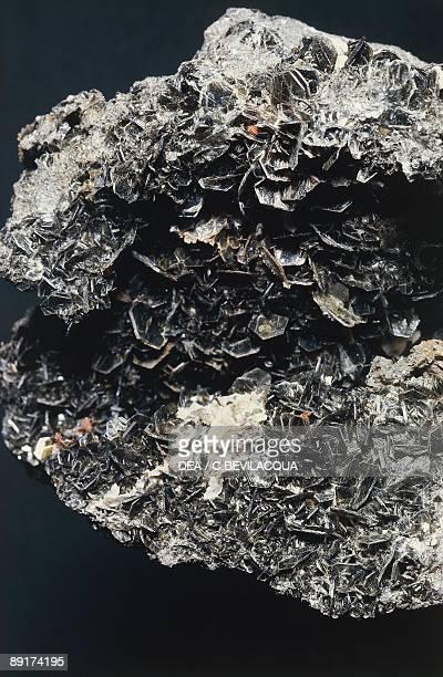 Closeup of biotite crystal