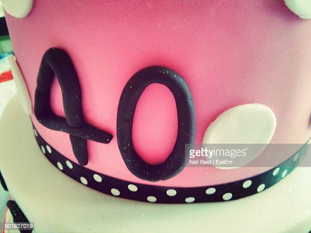 close-up of birthday cake - number 40 stock photos and pictures