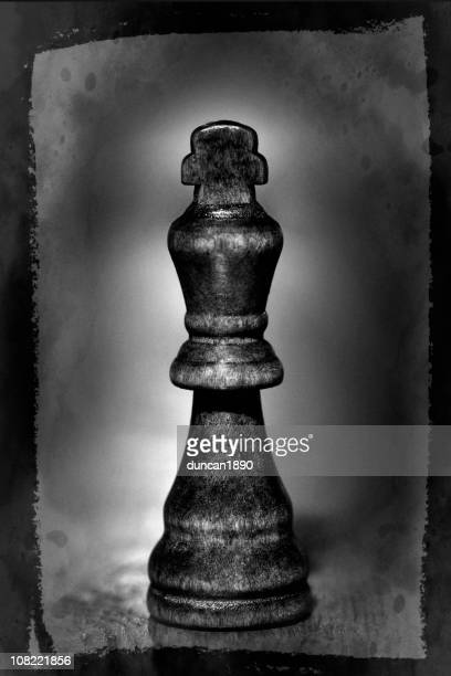 Close-up of Black King Chess Piece