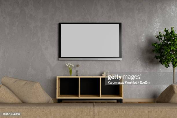 Wall Mounted Tv Stock Pictures Royalty