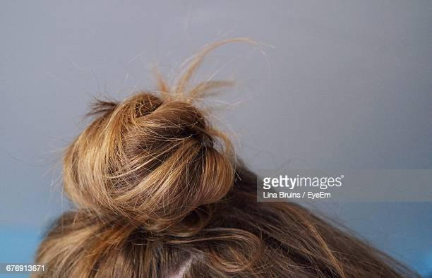 Close-Up Of Blond Hair Bun
