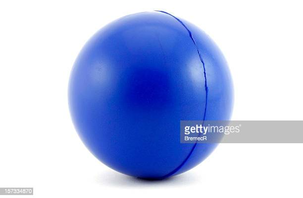 Close-up of blue ball on white background