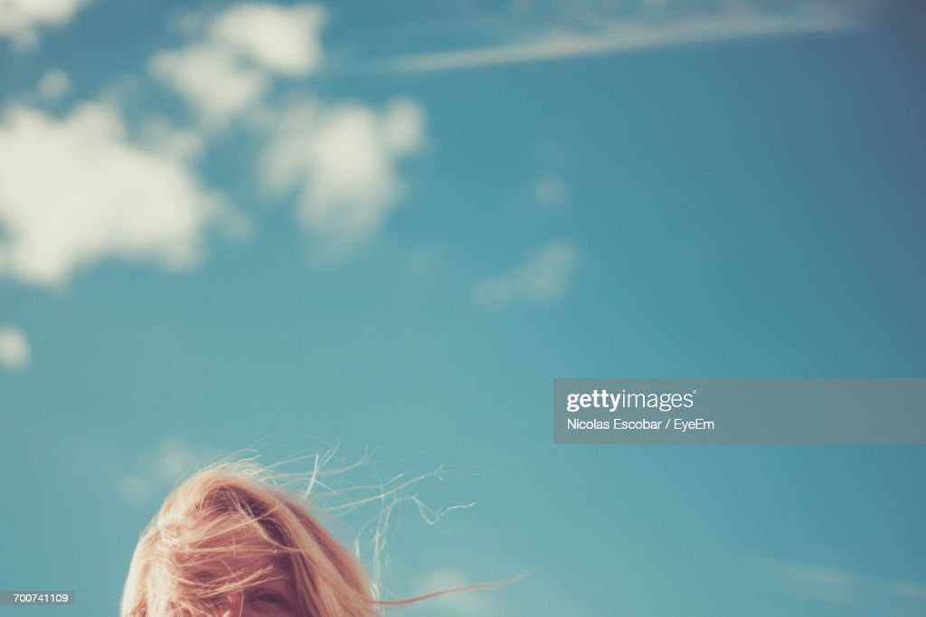 Close-Up Of Blue Sky : Stock Photo