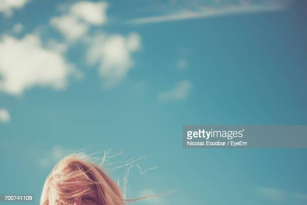 close-up of blue sky - escapism stock pictures, royalty-free photos & images