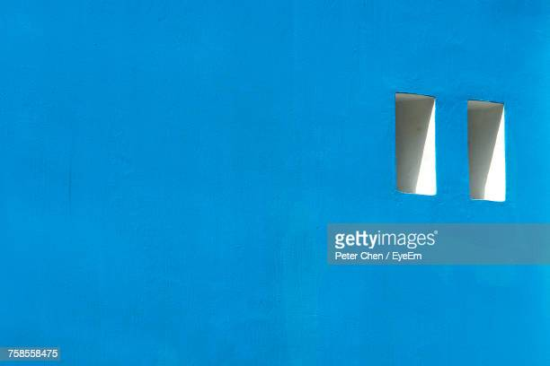 close-up of blue wall - whitewashed stock photos and pictures