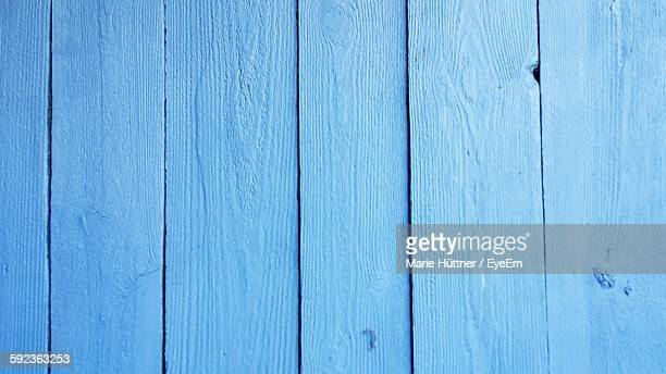 Close-Up Of Blue Wooden Wall