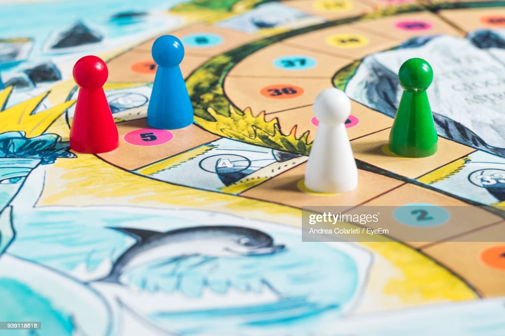 Close-Up Of Board Game : Stock Photo