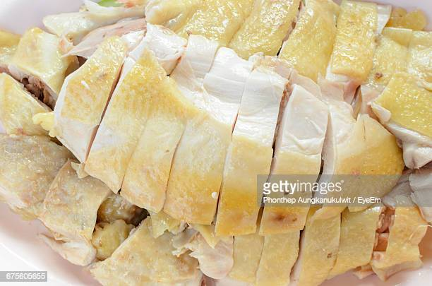 close-up of boiled chicken in plate - boiled stock pictures, royalty-free photos & images