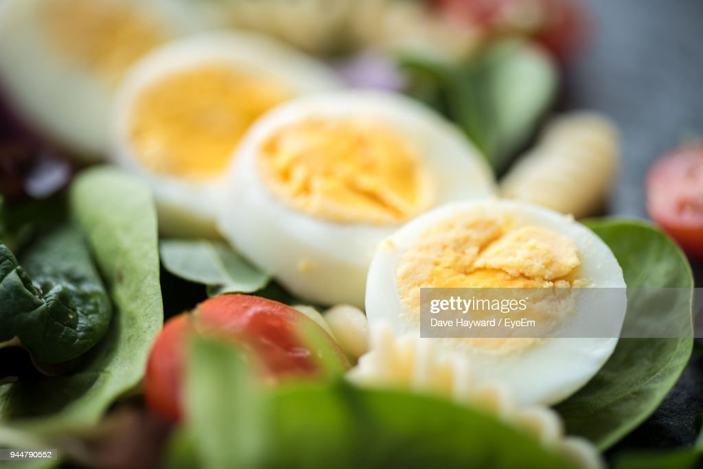 Close-Up Of Boiled Eggs : Stock Photo