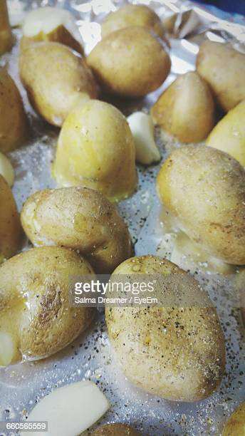 Close-Up Of Boiled Potatoes