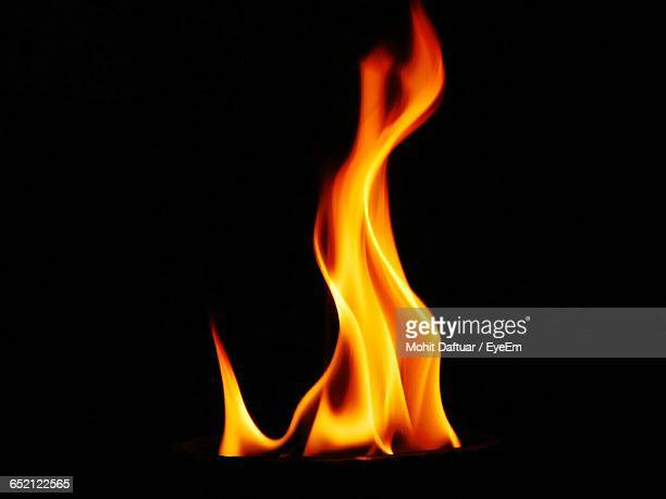 close-up of bonfire at night - flame stock pictures, royalty-free photos & images