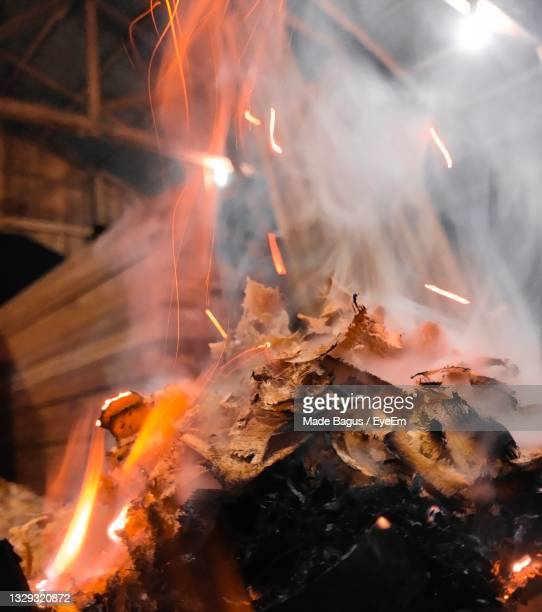 close-up of bonfire - central kalimantan stock pictures, royalty-free photos & images