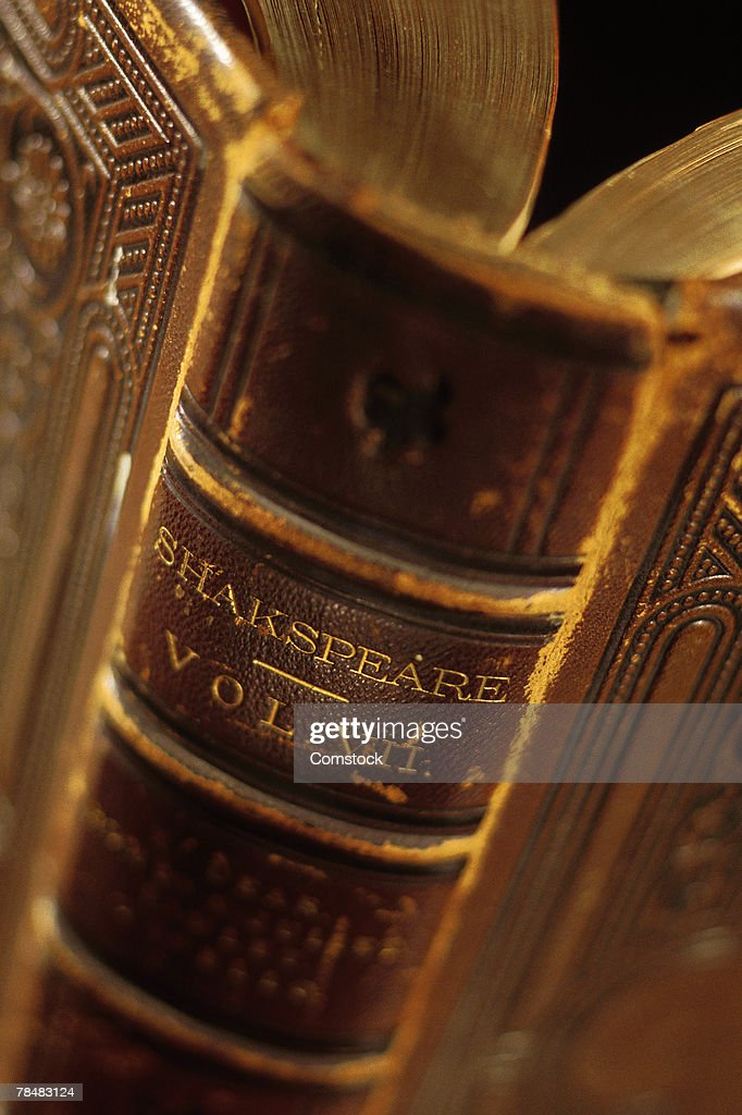 Close-up of book of Shakespeare plays : Stock Photo